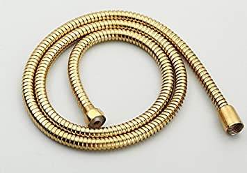 1/2u0026quot; Connection Stainless Steel Replacement Handheld Shower Hose Polished  Brass Finish (4.9