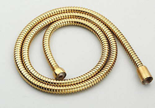 1/2'' Connection Stainless Steel Replacement Handheld Shower Hose Polished Brass Finish (4.9 Ft) (59 Inches) (1.5 Meters) by GUMA (Image #3)