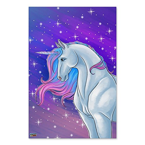 """New Graphics and More Majestic Unicorn Pink Purple Blue Home Business Office Sign - Poster - 24"""" x 36"""" (61cm x 91cm) supplier"""