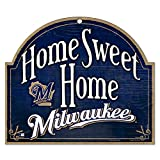 """MLB Milwaukee Brewers 11-by-9 Wood """"Home Sweet Home"""" Sign"""