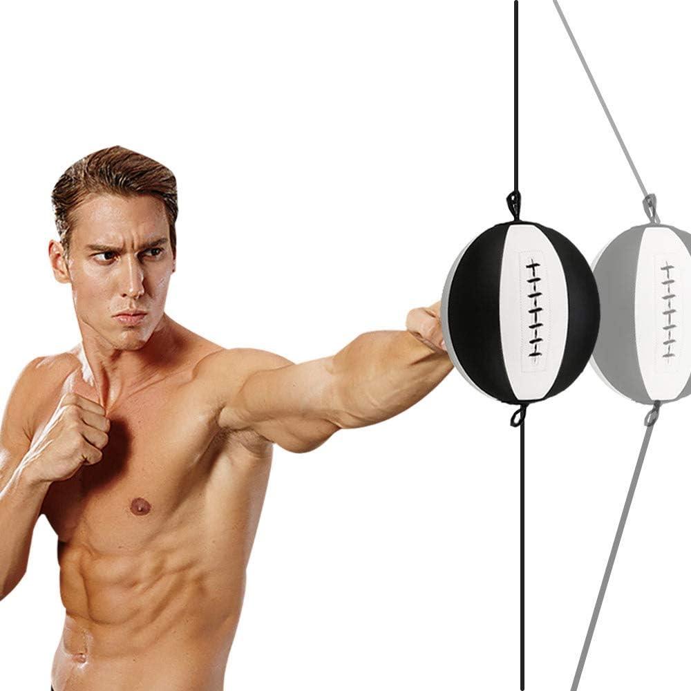 COSA MEJOR ダブルエンドバッグ パンチングバッグ ドリル不要 スピードボール 高耐久ゴムロープ付き 吸盤で固定 どこでも取り付け スピードバッグ MMA/ボクシング/ムエタイトレーニング用