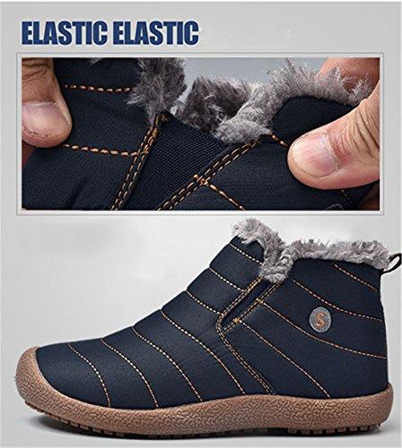 Cheville Homme Bottes Hiver Chaussures Tqgold Boots De Femme Antidérapage Chaudes Neige Imperméable Bleu xqOPSwXS