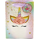 Unicorn Party Bags (12pcs) Super Cute | Ribbon Handles & Thank You Tags Incl. | Perfect for Kids Rainbow Unicorn Birthday Party Theme - Fill bags with Treats, Toys, Games or Supplies.