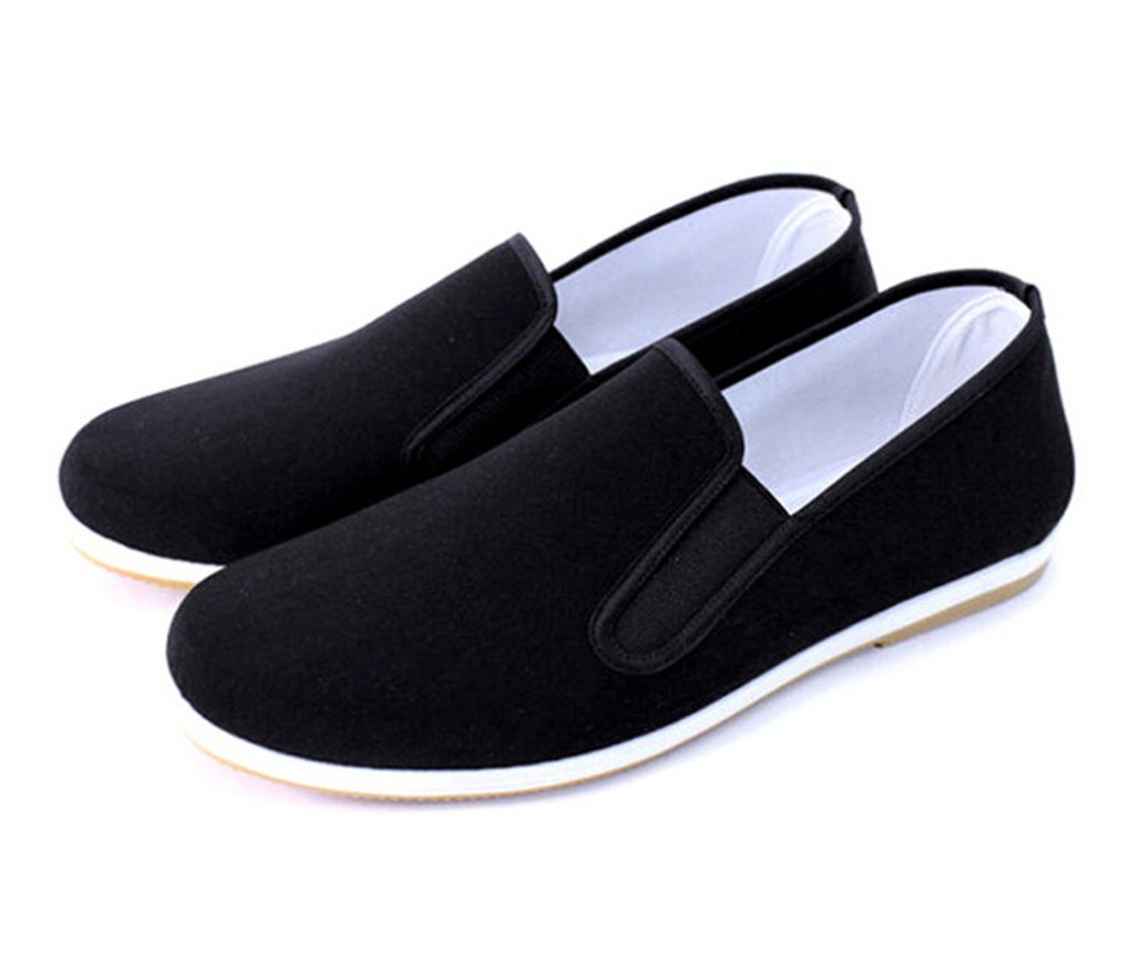 Aircee Men Chinese Traditional Old Beijing Shoes Kung Fu Tai Chi Rubber Sole Shoes Black (CHN 45 275mm (US Men 9.5/Women 10), Black)