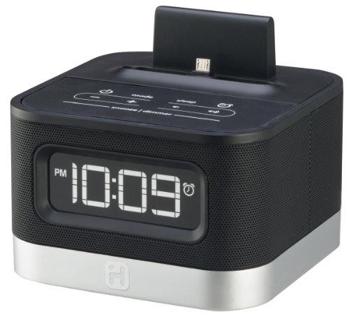 IHOME iC50B Universal Charging FM Stereo Alarm Clock Radio f