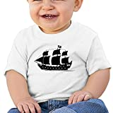 Pirate Ship 6 - 24 Months Baby T-shirts Round Neck Shirt White 12 Months