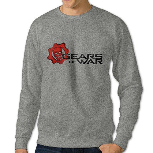 Bekey Men's Gears Of War 4 Poster Crew-Neck Hoodie Sweatshirt S Ash