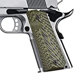 4 pics 1 od - Gifts for Father's Day 1911 Grips Full Size Commander Government Colt 1911 Grips, Eagle Wings Texturl G10 Material Ambi Safety Cut, fit Kimber Rock Island Sig Sauer Smith&Wesson Springfield Taurus
