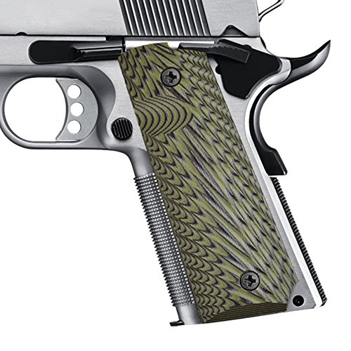 Colt Wing (1911 Grips Colt Commander Full Size Grips Government 1911 Grips, Eagle Wings Texturl G10 Material Ambi Safety Cut,fit Colt Kimber Rock Island Sig Sauer Smith&Wesson Springfield Armory Taurus and More)