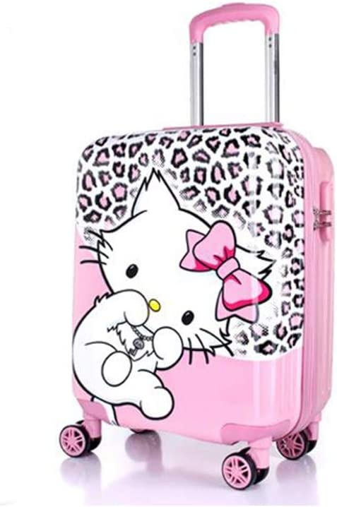 18//19//20 Runtongshanghang Trolley case Universal Wheel Luggage Size : 18, Style : D Cartoon Travel Trolley case Multi-Color Trolley case
