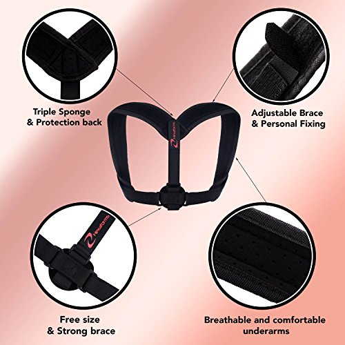 Hexaforms Back Posture Corrector for Women & Men - Effective and Comfortable Posture Brace for Slouching and Hunching - Clavicle Support for Upper Back & Shoulder Pain Relief - Medical Problems by Hexaforms (Image #7)
