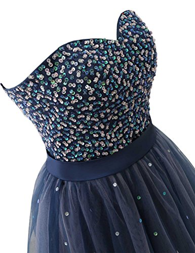 101 Homecoming Prom Sequin Party Blue Short navy Gowns Dress Tulle Women's anmor E1qWzz