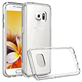 Galaxy S7 Case - Vakoo Samsung S7 Case [Crystal Clear] Scratch Resistant Hard Back Plate Drop Proof Protective TPU Bumper Cover Smart Phone Case for Samsung Galaxy S7 (Clear)