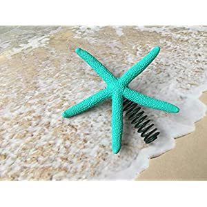 Tropical Turquoise Finger Starfish Christmas Tree Topper 24