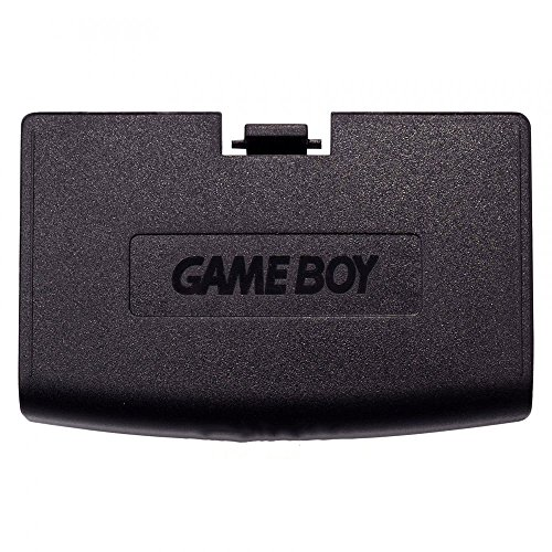 Battery Color Game Cover Boy (Plastic Battery Cover Door Part for Game Boy Advance GBA Black Color)