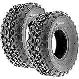 Set of 2 SunF A015 Sport-Racing ATV/UTV Tires 19x7-8, 6-PR