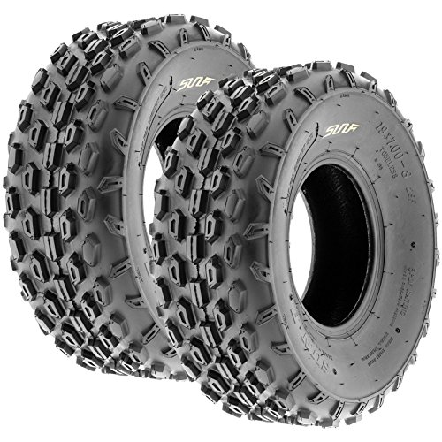 Set of 2 SunF A015 Sport-Racing ATV/UTV Tires 19x7-8, 6-PR
