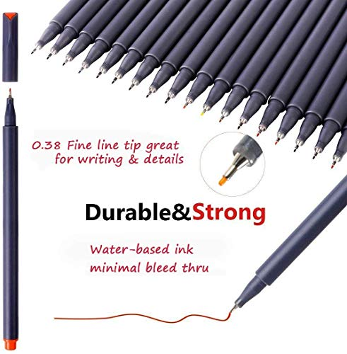 iBayam Journal Planner Pens Colored Pens Fine Point Markers Fine Tip Drawing Pens Porous Fineliner Pen for Bullet…