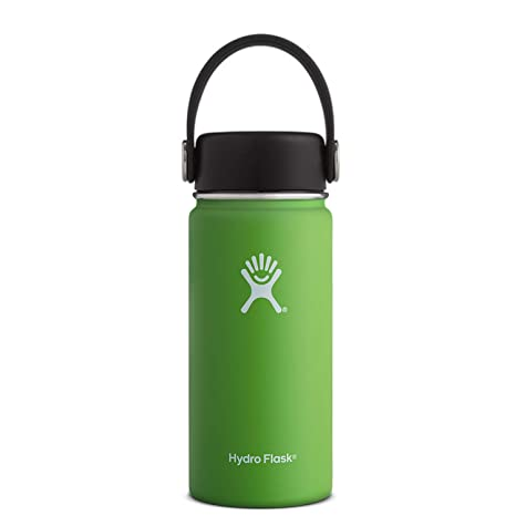 5877121242f Hydro Flask 16 oz Wide Mouth Double Wall Vacuum Insulated Stainless Steel  Leak Proof Sports Water Bottle, Wide Mouth with BPA Free Flex Cap