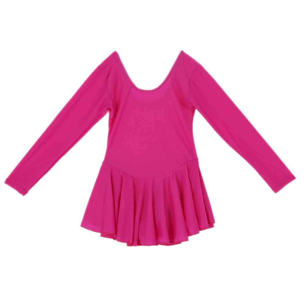 Vestiti Bambina Danza, KISSION Classica Bambini Tutu Ballet Ginnastica Body Abito 3-8 Anni ( Manica Lunga )