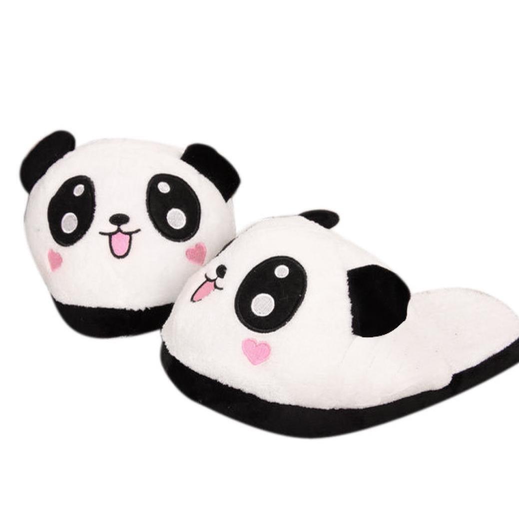 QinMM Pantoufles Chaudes Peluche Mignon Panda, Hommes Femmes Antidérapant  Chaussures Hiver Maison Intérieur (EU 38, A)  Amazon.fr  Chaussures et Sacs bdbd51bf07be