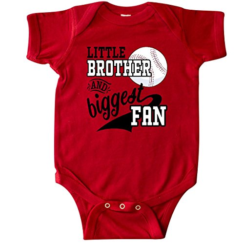 inktastic - Little Brother and Biggest Fan- Infant Creeper 6 Months Red 2a7dc