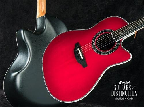 Adamas Acoustic Electric Guitar (Ovation C2079LX-CCB Custom Legend LX Acoustic-Electric Guitar, Cherry Cherry Burst)