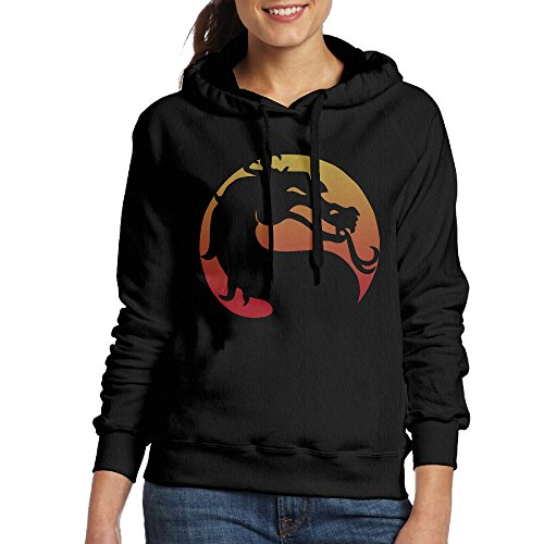 Price comparison product image FUOCGH Women's Pullover Mortal Kombat X Hoodie Sweatshirts Black XXL