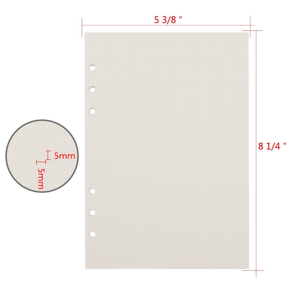 Amazon.com: Cuaderno de 6 anillas, tamaño A5, 6 orificios, 8 ...