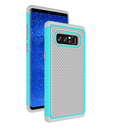 Galaxy Note 8 Case, AOKER [Shock Absorption] [Slim Fit] [Scratch Resistant] Hybrid Dual Layer Armor Defender Anti-Drop Rugged Protective Case Cover for Samsung Galaxy Note 8 (Grey)