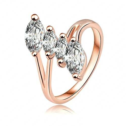Gnzoe Rose Gold Rings Women Wedding Bands Rose Gold US Size 9 ()