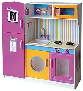Leomark cocina grande y brillante cocina de juguete con - Cocinas de madera ninos ...