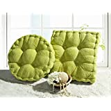 Solid Color Multi-Size Square/Round Stuffed Chair Cushion Thicken LivebyCare Filled Seat Back Cushions Square PP Cotton Insert Filling Pad for Study Room Sofa Couch