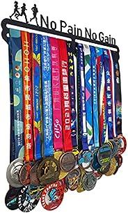 BIANJIE No Pain No Gain Medal Hanger Holder World Marathon Running Gift Medal Hanger Easy Installation Can Han