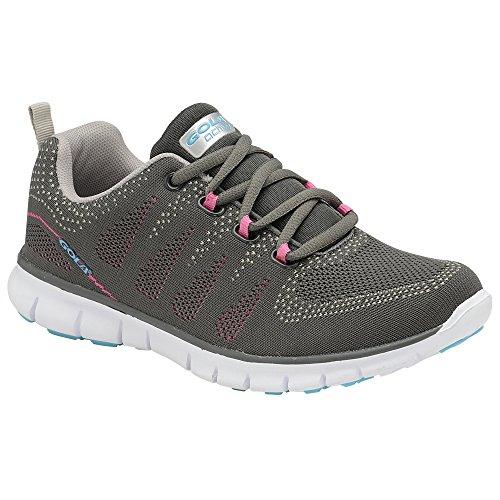Gola Womens/Ladies Tempe Trainers Grey/Pink Y29rqAz5n