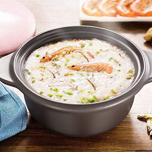 ZJZ Pot en céramique Casserole Pot Pot de ragoût en Terre Cuite Casserole en céramique économe en énergie, résistant aux Hautes températures, 4L