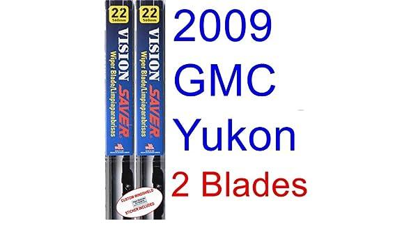 Amazon.com: 2009 GMC Yukon Denali Replacement Wiper Blade Set/Kit (Set of 2 Blades) (Saver Automotive Products-Vision Saver): Automotive