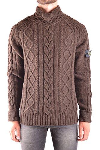 Stone Island Herren MCBI284044O Braun Wolle Sweater