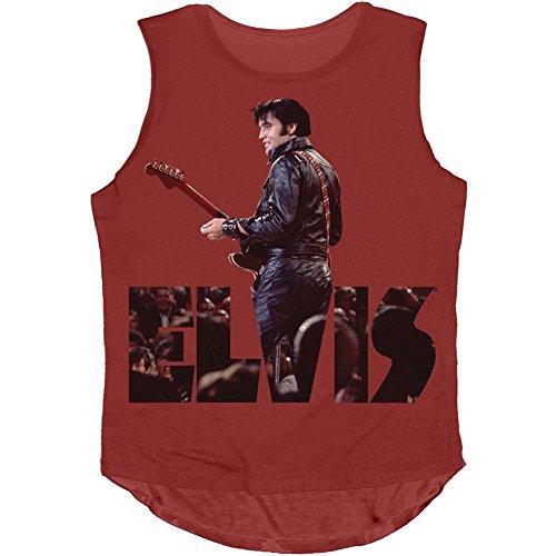 Elvis Presley Women's Leather Elvis Womens Tank Medium Red]()