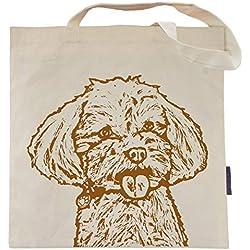 Grace the Maltipoo Tote Bag by Pet Studio Art