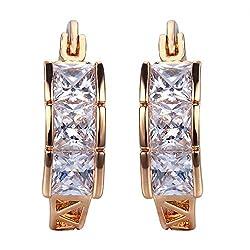 Snowman Lee Earring 2015 New Fshion Jewelry 18k Rose Gold Plated Hoop Earrings