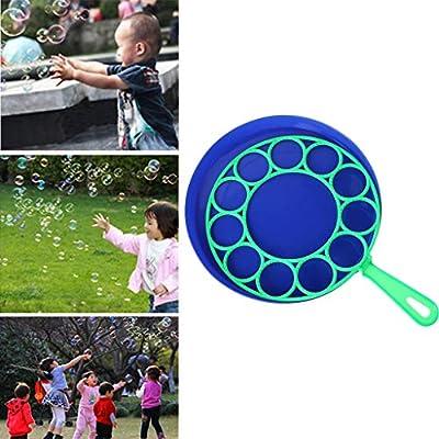 HOWWOH Bubble Dish, Bubble Dish Big Bubble Tool Soap Bubble Maker Blower Set Outdoor Toy Gifts - Color Randomly: Home & Kitchen