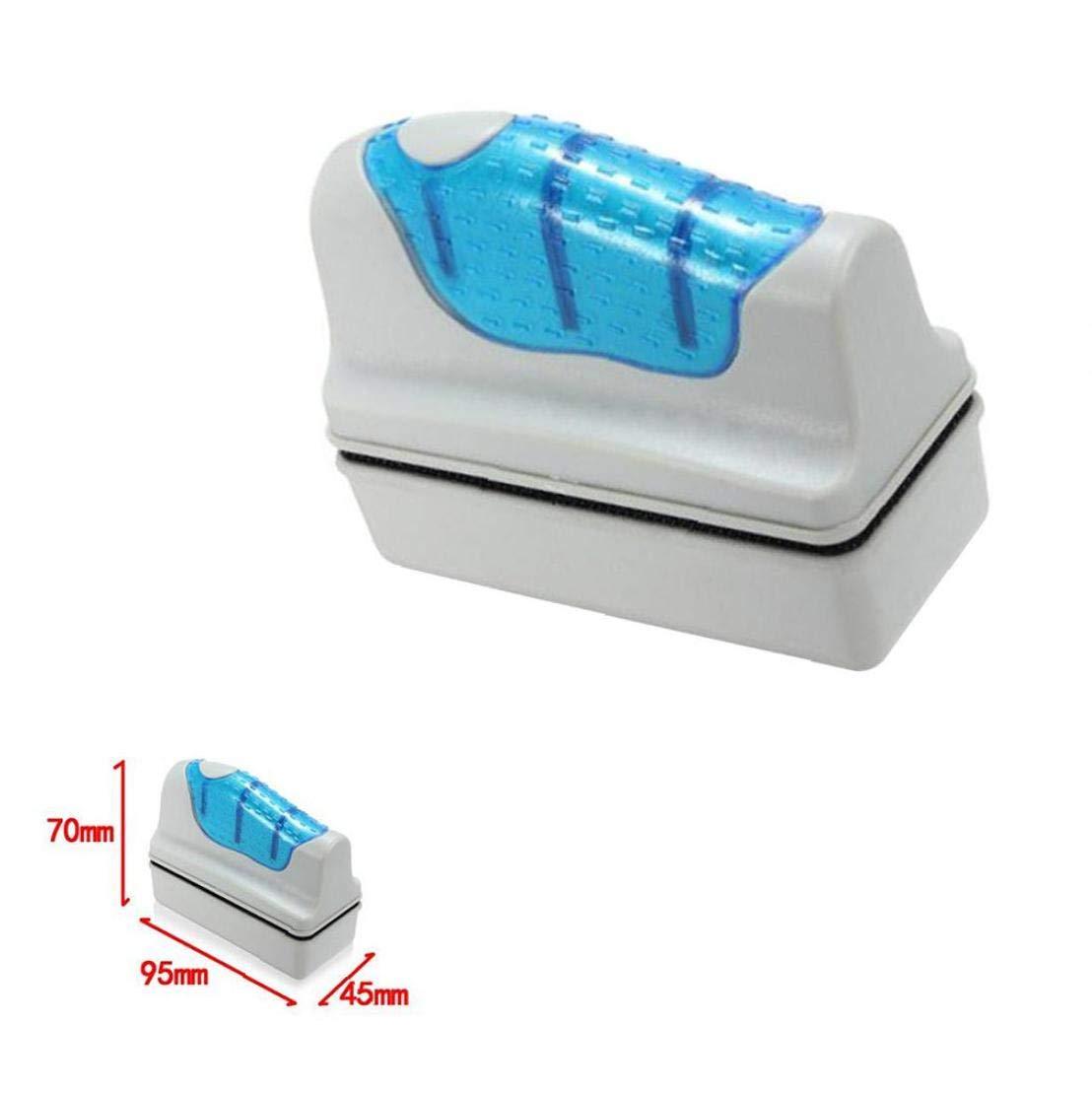 No brand Magnete Acquario Cleaner Alghe Raschietto per Glass Cleaner Acquari Acquatico Alghe a Secco Fish Tank di Vetro Scrubber Floating Spazzola Pulita