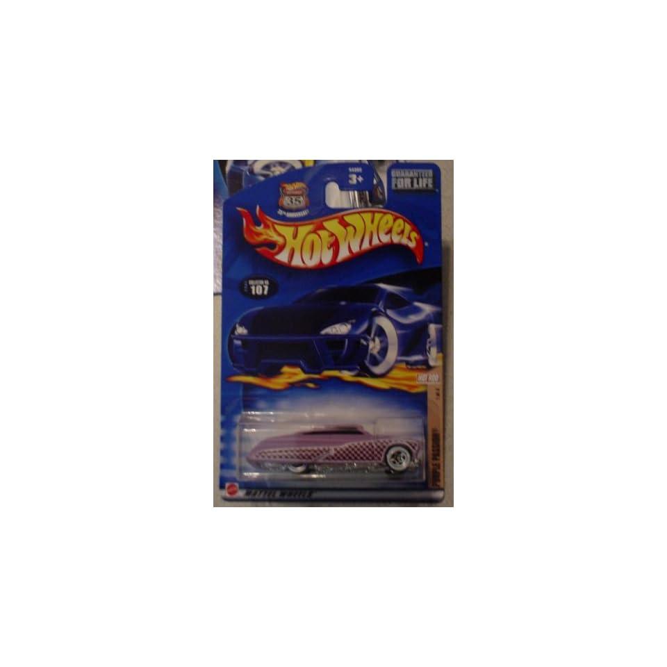 Hot Wheels 2002 107 Hot Rod Magazine PURPLE PASSION 1/4 164 Scale