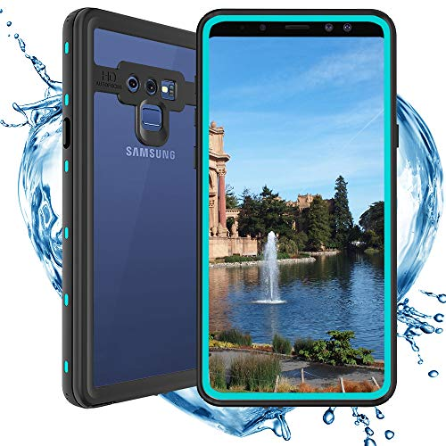 (Shellbox Compatible for Samsung Galaxy Note 9 Waterproof case,Shockproof Snowproof Fully Sealed Underwater Protective Cover 360 Degree Cellphone Soft Case for Samsung Note 9 (Teal))