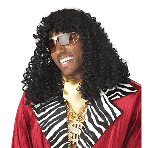 Rick James Wigs (MyPartyShirt Rick James Wig Super Freak Black Curly Dave Chappelle Show Costume 70's)