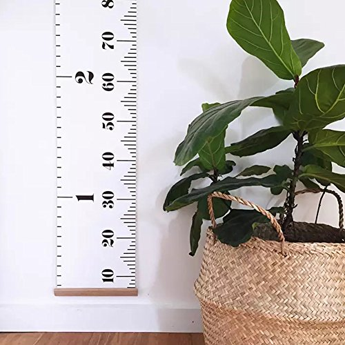 Olpchee Wall Hanging Canvas Growth Chart Roll Up Height Chart Ruler Wall Decor Photography Props for Baby Kids by Olpchee (Image #4)