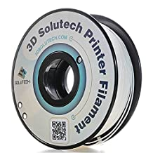 3D Solutech Printer Filament, Real White PLA, 1.75MM Filament, Dimensional Accuracy +/- 0.03 mm, 2.2 LBS (1.0KG) - 100% USA Plastic Filament