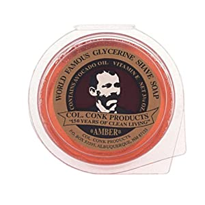Col. Conk World's Famous Super Bar Shaving Soap - 3.75 oz., Amber-Made in USA