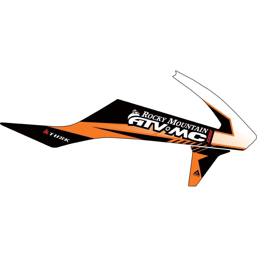 アタックグラフィックスタービンラジエーターシュラウドデカールオレンジ-フィット:KTM 250 SX-F 2011-2012   B07BMKWSNM